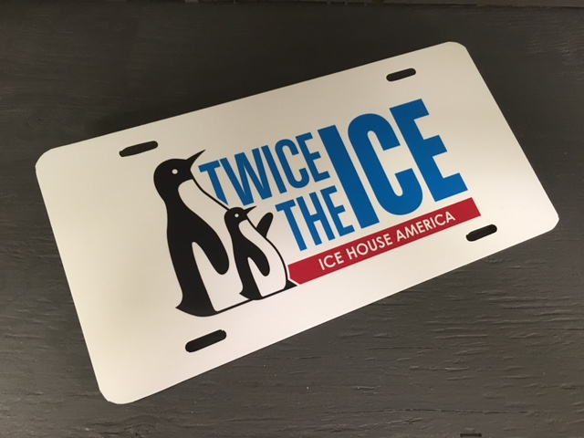 Twice The Ice License Plate